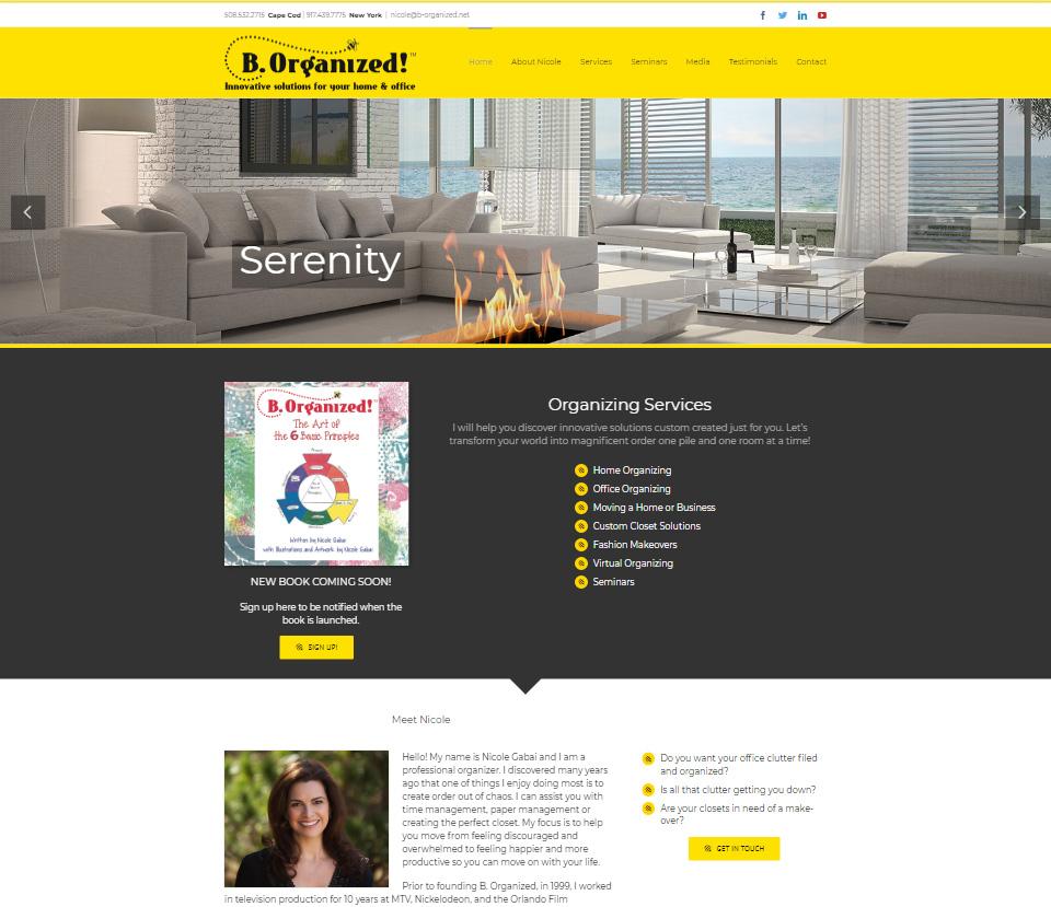 Portfolio B. Organized website design