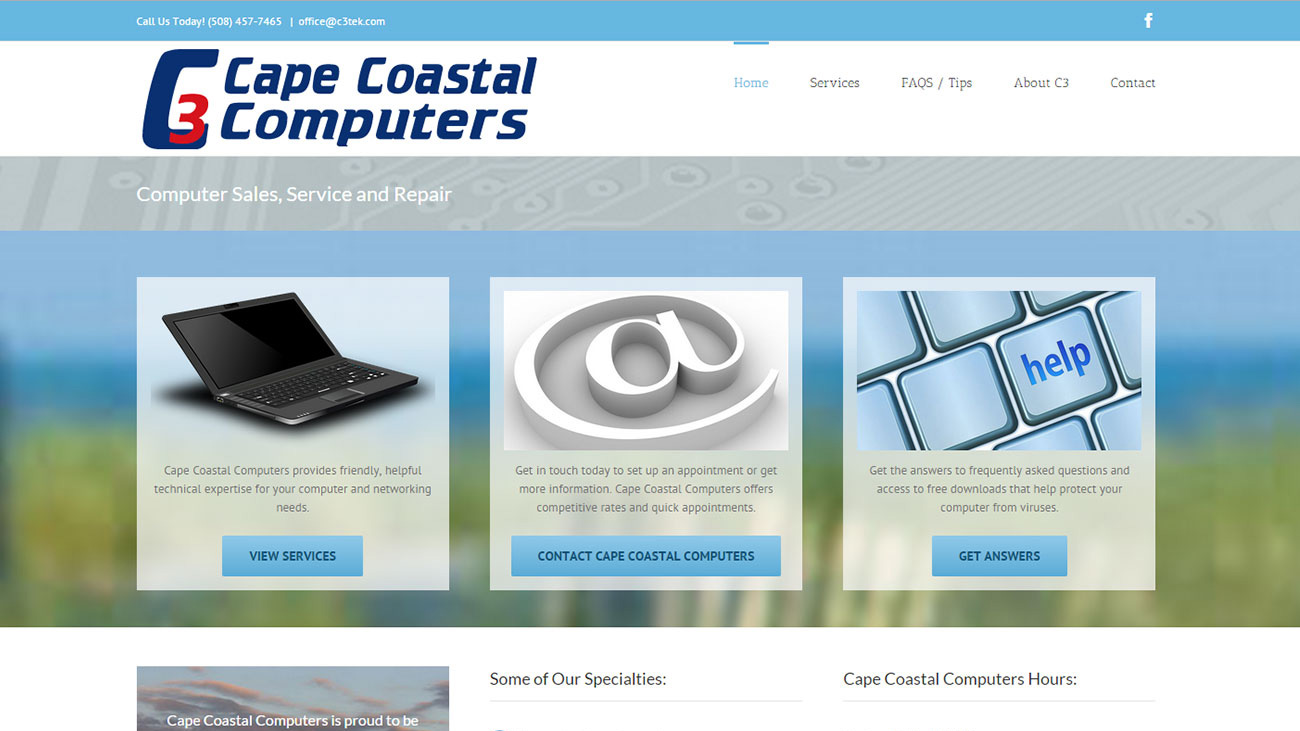 Portfolio Cape Coastal Computers website design