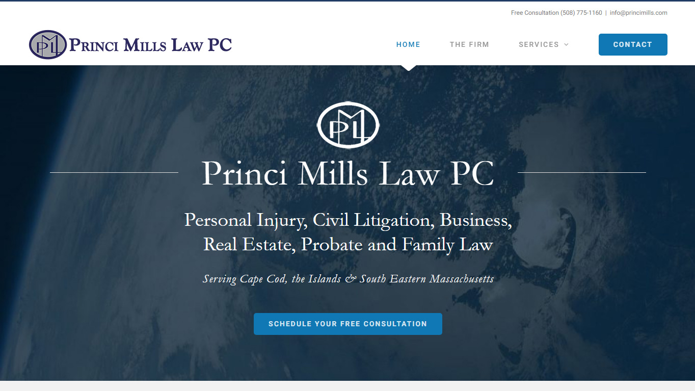 portfolio Princi Mills PC website design