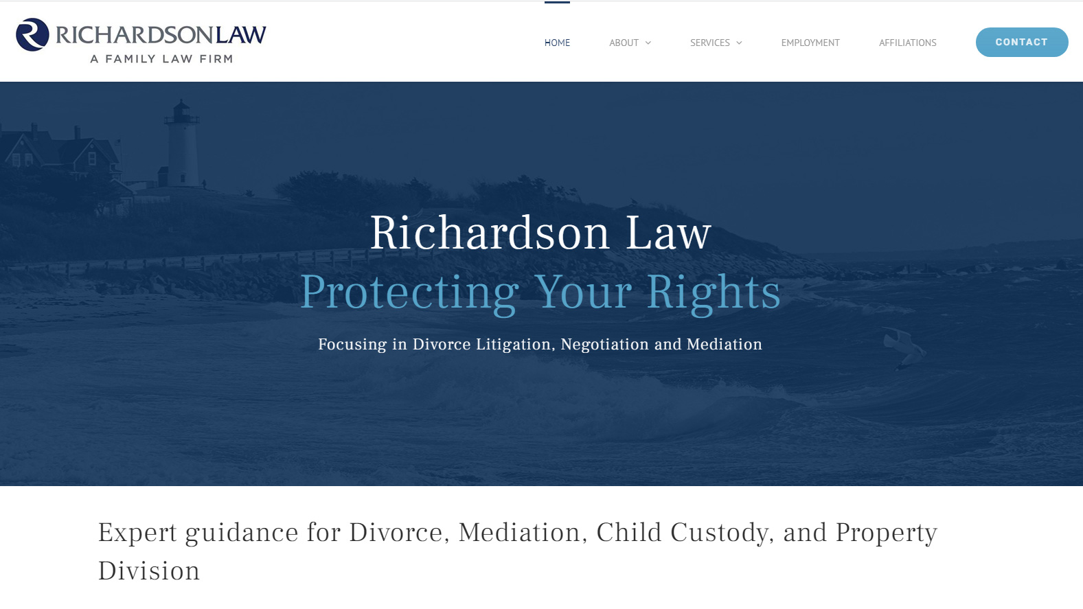 Portfolio Richardson Law website design
