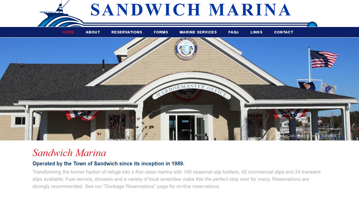 Portfolio Sandwich Harbor Master website design