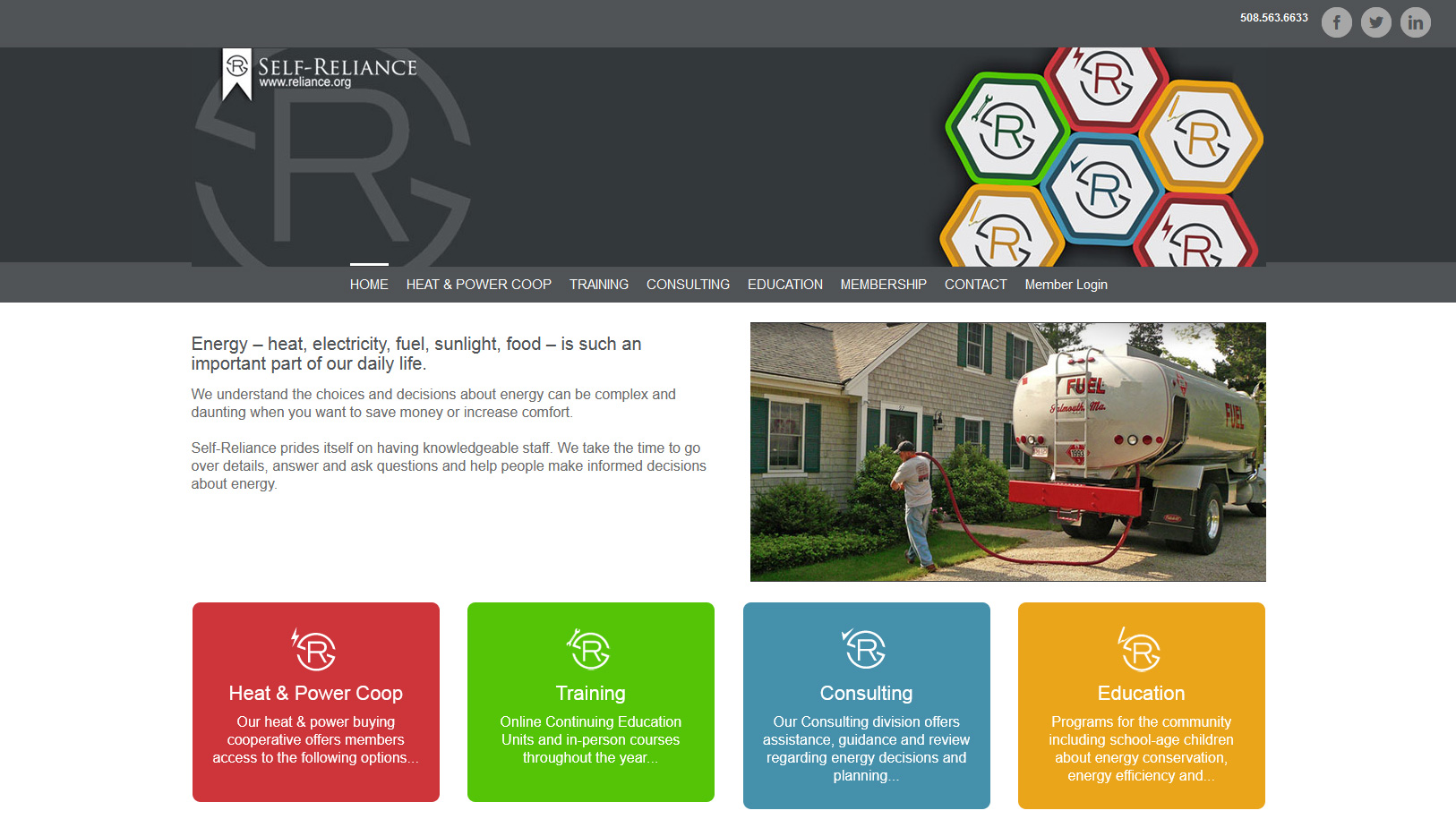 Portfolio Self Reliance website design