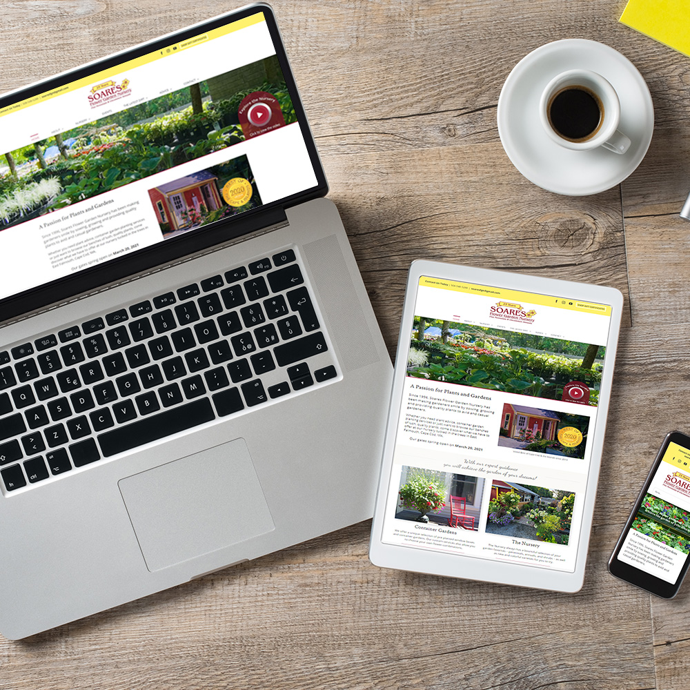 Soares Nursery website design